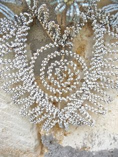 french beadwork funeral wreath