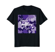 Purple Up For Military Kids Awareness Shirt T-Shirt Kids Shirts, Cool T Shirts, Purple Day, Gifts For Art Lovers, Easter T Shirts, Gifts For An Artist, Bear T Shirt, Branded T Shirts, Military