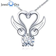 Fashion Swan Accessories Cubic Zirconia Pendants Necklaces For Women Party Jewelry New 2016 (JewelOra NE101208)