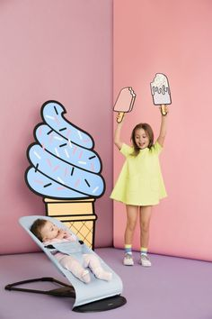 New Ice cream collection by BabyBjorn available from June exclusively at John Lewis  Bouncer Balance Soft - Blue Mint, Cotton (1)