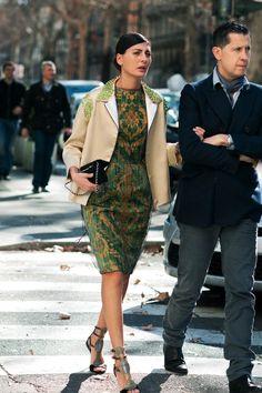20 Looks with Giovanna Battaglia ( Street style) Giovanna Battaglia, Look Fashion, Fashion Show, Womens Fashion, Milan Fashion, Mode Pop, Business Mode, Street Chic, Paris Street