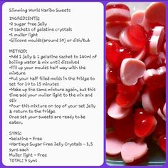 Slimming World's Haribo Style Sweets - 3 Syns The process of losing weight re. - Slimming World's Haribo Style Sweets – 3 Syns The process of losing weight requires discipli - Slimming World Haribo, Slimming World Sweets, Slimming World Puddings, Slimming World Tips, Slimming World Recipes Syn Free, Slimming Eats, Flash Tattoos, Healthy Eating Tips, Healthy Nutrition