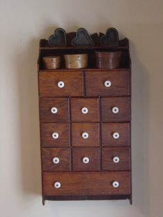EARLY ANTIQUE OAK 12 DRAWER SPICE APOTHECARY CABINET CHEST..ORIG. SURFACE..AAFA