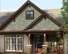 sage green siding with brown trim google search cabin paint colorshouse colorsexterior colorsexterior paintshingle