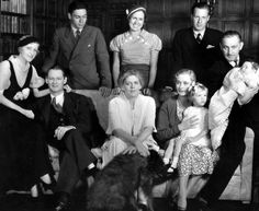 Lionel Barrymore with his second wife Irene Fenwick; Ethel Barrymore with her children John, Ethel, and Samuel Colt; John Barrymore with his third wife Dolores Costello and their children Dede and John Jr. Hollywood Icons, Old Hollywood Glamour, Hollywood Walk Of Fame, Golden Age Of Hollywood, Vintage Hollywood, Hollywood Stars, Classic Hollywood, Hollywood Actresses, Barrymore Family