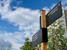 Kidbrooke VIllage (Transform Award Winner) on Behance Park Signage, Wayfinding Signage, Signage Design, La Sign, Sign System, Entrance Sign, British Home, Public Realm, Information Design