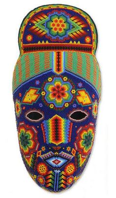 Beadwork mask, 'Life, Fortune and Success' by NOVICA