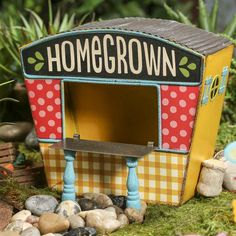 "Miniature ""Homegrown"" Roadside Stand #fairygarden #factorydirectcraft"