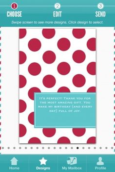 """Red Stamp- This app sends adorable """"thank-yous"""" and """"congrats"""" notes from your phone!"""