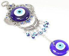 Turkish Blue Evil Eye (Nazar) Carps Fish Amulet Wall Hanging Protection Home Decor Blessing Gift US Seller
