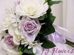 Lilac Roses, Gardenias & White Bellflowers