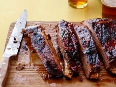 Delight family and friends at your next cookout by serving up our best barbecue recipes, including ribs, brisket, smoked salmon and more from Food Network. Pork Rib Recipes, Barbecue Recipes, Chili Recipes, Sauce Recipes, Smoker Recipes, Barbecue Sauce, Grilling Recipes, Chili Recipe Food Network, Food Network Recipes