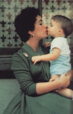 Liz and her baby boy    (Vintage Embedded In My Soul)