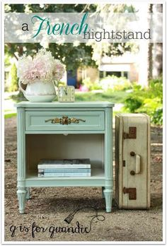 Nightstand painted in Fusion's Inglenook