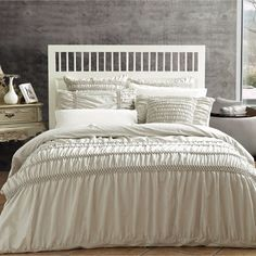 Rosewater 6 pc Ruffled Comforter Bed Set