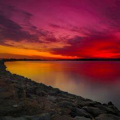 Sounds of Sunset by Anatoliy Urbanskiy on Red Sunset, Music Photo, Cool Photos, Amazing Photos, Sky, Park, Beach, Nature, Photography