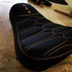 custom motorcycle seat .. design concept adaptable to trucks