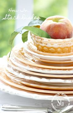 You searched for how to stack dishes - StoneGable Christmas Tree Design, Christmas Minis, Country Bedding Sets, Tree Shop, White Dishes, Fall Table, Tree Designs, Dinner Table, High Tea