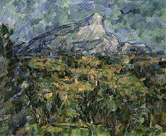 Landscape of Aix, Mont Sainte-Victoire by Paul Cezanne