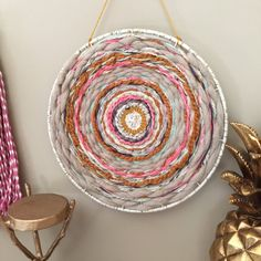 Buy Round Wooden Loom Handmade Knitting Machine Handmade Wall Hanging Decoration Round Knitting Tool Diy Craft at Wish - Shopping Made Fun Handmade Wall Hanging, Yarn Wall Hanging, Wall Hangings, Bohemian Tapestry, Wall Tapestry, Circular Weaving, Friend Crafts, Weaving Textiles, Weaving Projects