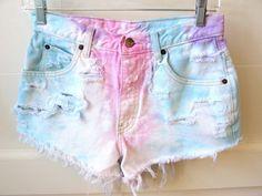 tie dye shorts