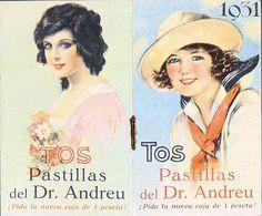 Las míticas pastillas del doctor Andreu para la tos, por sólo una peseta la caja; uno de los productos farmacéuticos más famosos del siglo pasado que hoy en día comercializan los laboratorios Bayer. Su composición: 1,4g de sacarosa y 0,97g de glucosa por cada pastilla.