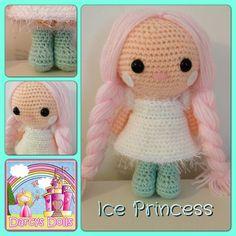 Darcy's Dolls Ice Princess, custom made Christmas, crochet doll. www.facebook.com/Darcysdolls
