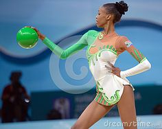 Grace Legote of South Africa in action during the 32nd Rhythmic Gymnastics World Championships in Kiev, Ukraine, 28 August 2013.