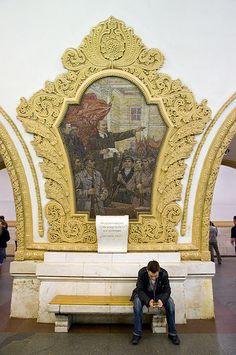 Kievskaya metro station . Moscow, Russia