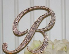 Hey, I found this really awesome Etsy listing at https://www.etsy.com/listing/175416348/monogram-gold-cake-topper-in-any-letter