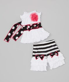Love this Black & White Tina Doll Outfit by AnnLoren on #zulily! #zulilyfinds