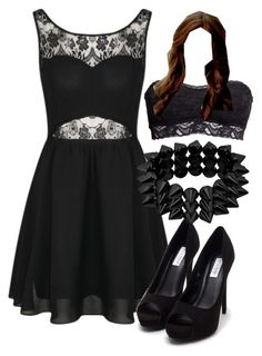 """""""Katherine Pierce Inspired Date Night Outfit"""" by mytvdstyle ❤ liked on Polyvore featuring Nly Shoes, H&M, Inspired, tvd and thevampirediaries"""