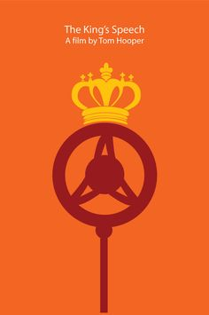The King's Speech (2010) ~ Minimal Movie Poster by Hugo Gallipoli ~ 2011 Oscar Nominees #amusementphile