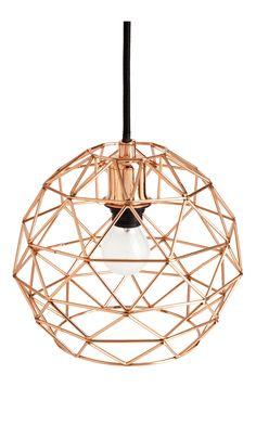 Cage - Lámpara de suspensión Copper - Habitat