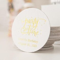 Personalized Paper Coasters - Round - 8 Color Options - As low as $0.23 per peice