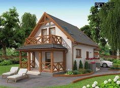 projekt domu letniskowego Model House Plan, Tiny House Plans, Garden Cabins, White Room Decor, Pintura Exterior, Modern Bungalow House, Loft Interior Design, Weekend House, Loft Interiors