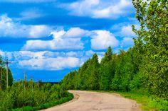 https://flic.kr/p/H8eNkb   Spring landscape. Rural road cloudy morning.