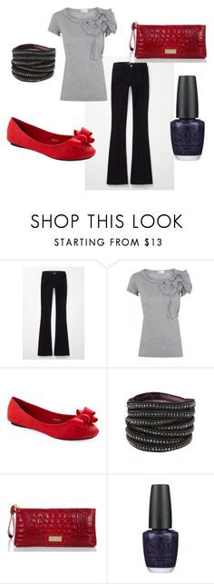 """""""Untitled #15"""" by lyss722 ❤ liked on Polyvore featuring M.i.h Jeans, Valentino, Deepa Gurnani, Brahmin and OPI"""
