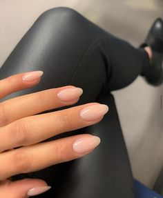 Nude Nails, Gel Nails, Manicures, Milky Nails, Minimalist Nails, Cute Acrylic Nails, Acrylic French Manicure, Rounded Acrylic Nails, Dream Nails