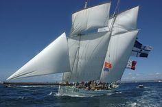 """A French Three-Masted Lugger:  """"La Granvillaise"""" Bisquine"""