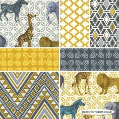 Michael Miller Fabrics Seedling II Fabric Pack by Thomas Paul in Multi - pre-cut fabrics for patchwork and quilting