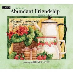 Lang Abundant Friendship 2016 Wall Calendar by Diane Knott, January 2016 to December 2016, 13.375 x 24 Inches (1001888)