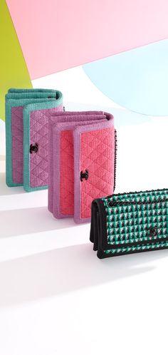 flap bag, tweed & grosgrain-green & black - CHANEL