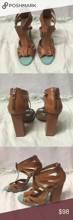 Schutz shoes Schutz 4.5 heels. Leather, made in Brazil. Size 10.5 B.  Never used. SCHUTZ Shoes Heels
