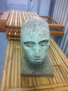Concrete Head Art Statue Sculpture in 240 Kent Avenue, Brooklyn, NY 11249, USA ~ Apartment Therapy Classifieds