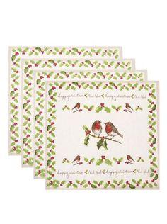 Cooksmart - Sada čtyř vánočních ubrousků  Garden - 1