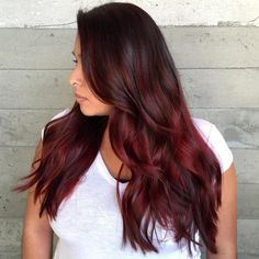 Maroon+Ombre+Hair