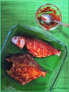 Cooking with heart: Pomfret and Pink Perch Fry Fried Fish, Fish Fry, Pomfret Fish, Fried Bananas, Veg Recipes, Fish And Seafood, Fries, Organic, Andalucia