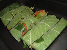 Salmon Fillet in Fig Tree Leaf