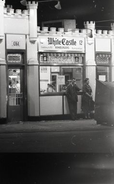 White Castle Hamburgers, 4364S Archer, 1962, Chicago.  When this photo was taken, the location had been open for 33 years.